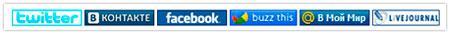 Простейший способ добавления иконок социальных сервисов и сетей в блог