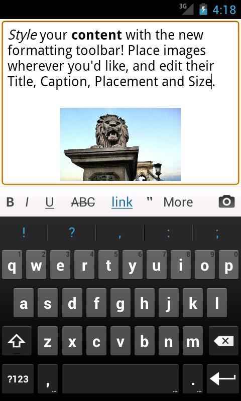 Управляем WordPress блогом с Android смартфона